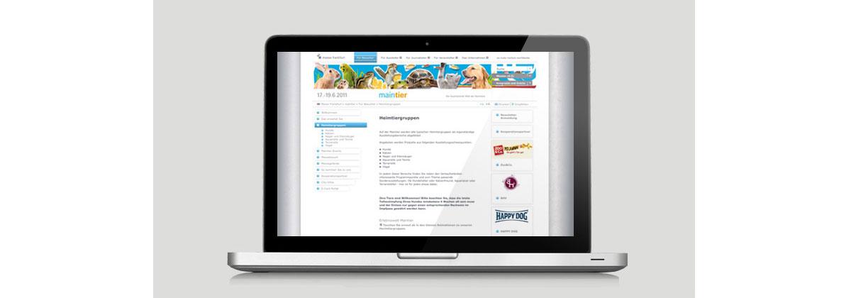 Maintier-Webseite